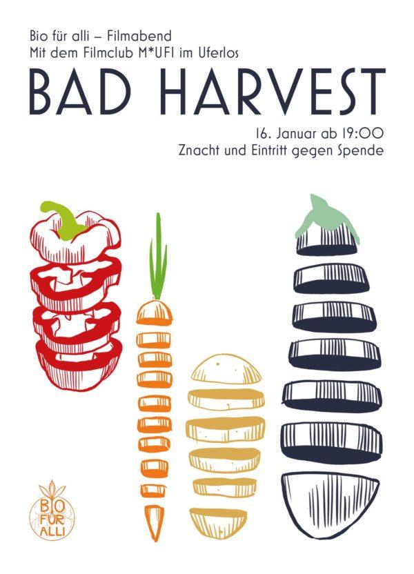 """Filmabend """"Bad Harvest"""" 16. Januar mit """"Bio für Alli"""""""
