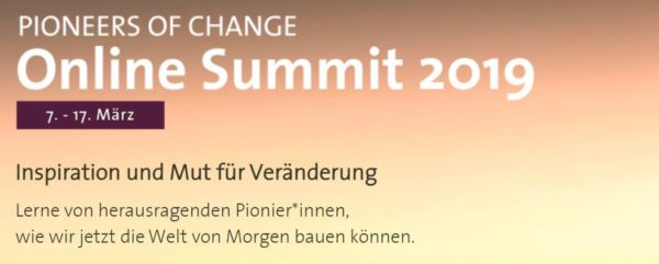 Pioneers of Change Online Summit 2019