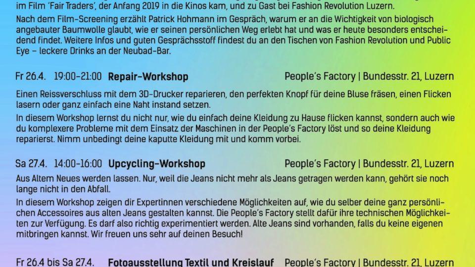 Fashion Revolution Week Luzern